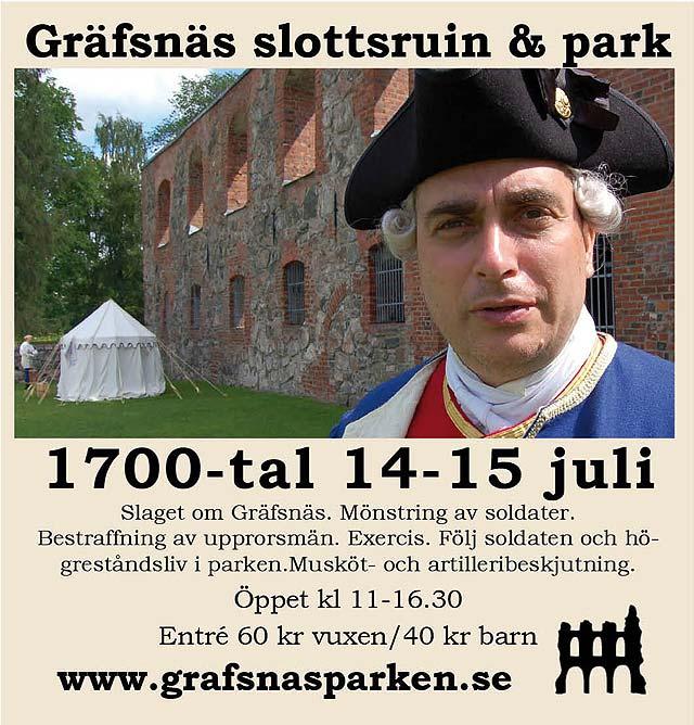 1700-tal i Gräfsnäs slottsruin & park
